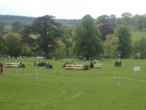 Every year Chatsworth host horse trials.. The jumps these horses have to jump during these trails are huge.